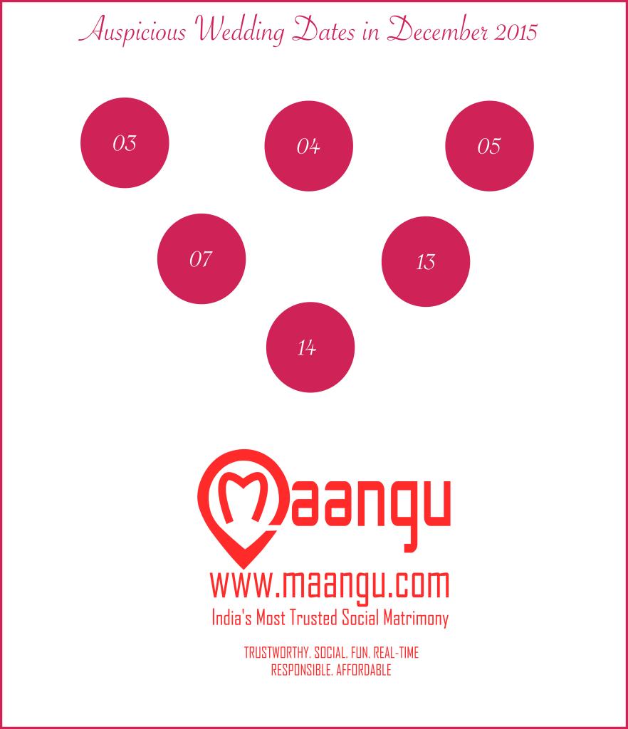 Auspicious Hindu Wedding Dates In December 2015 Maangu